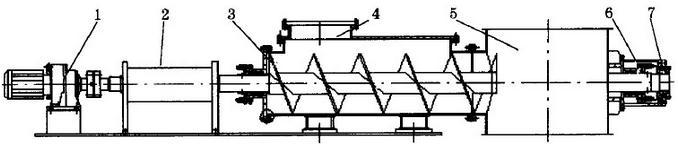 闪蒸干燥机结构简图
